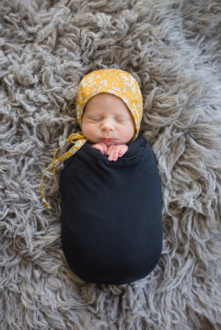 Black Swaddle Blanket