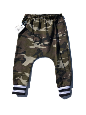 Camo/Stripe Harem Pants