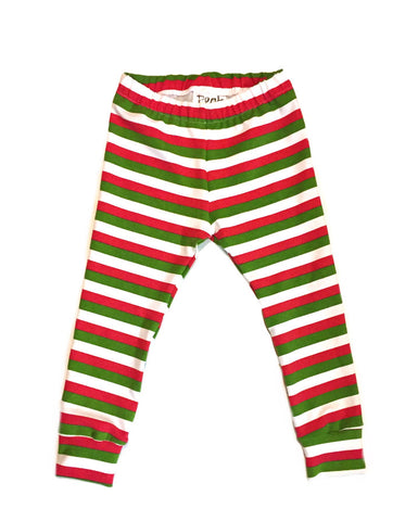 Red, White, and Green Stripe Leggings