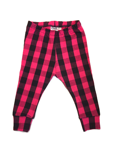 Pink Buffalo Plaid Leggings