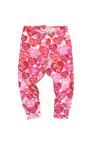 Pink Conversation Heart Leggings