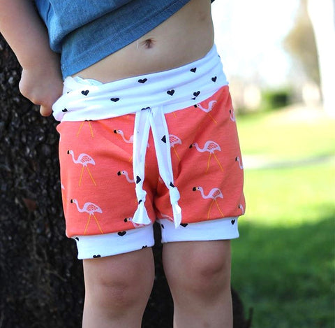 Flamingo Foldover Shorts
