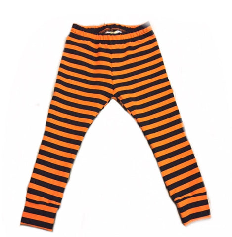 Orange and Black Stripe Leggings