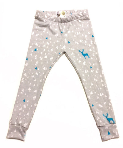 Blue and Gray Stag Leggings
