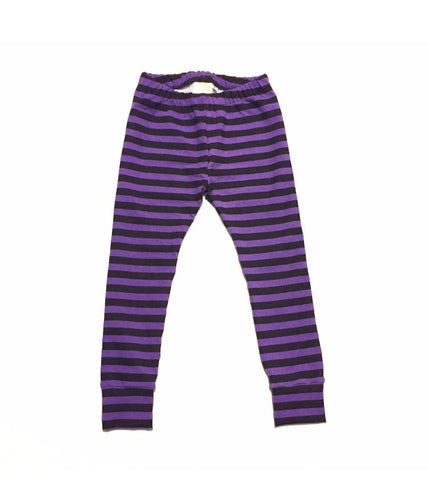 Purple and Black Stripe Leggings