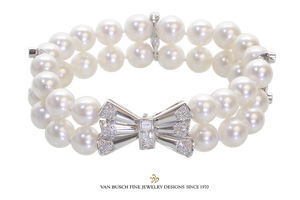 Fancy Pearl and Diamond Bracelet