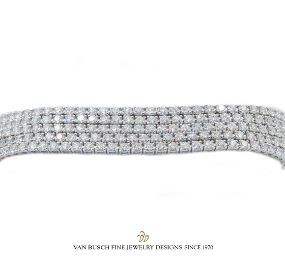 5-row Diamond Bracelet