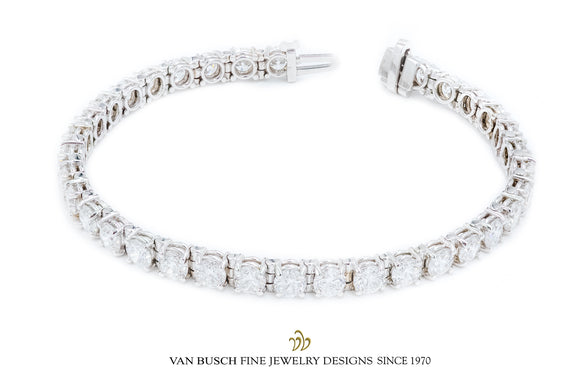 Four-Prong Diamond Tennis Bracelet