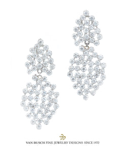 Fancy Diamond Dangling Earrings