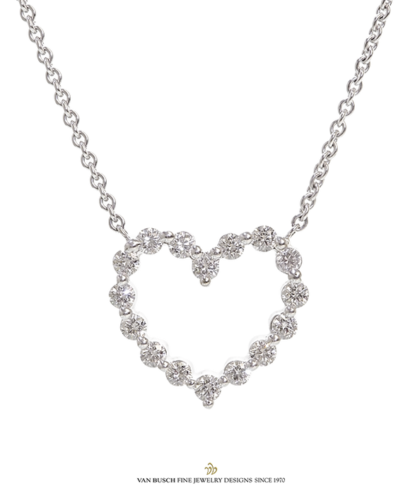 Open Diamond Heart Necklace