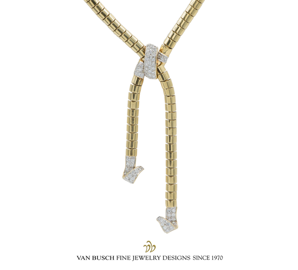 Lariat Necklace with Diamonds