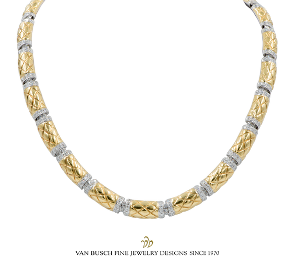 Cress-Cross Necklace with Diamonds