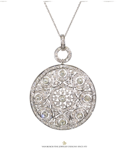Antique Style Diamond Medallion