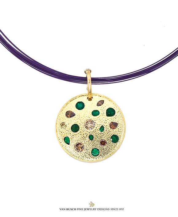 Multi-Color Diamond and Emerald Gold Sphere
