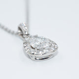 Pear-Shaped Diamond Pendant