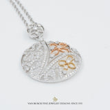 Flower Design Medallion Pendant