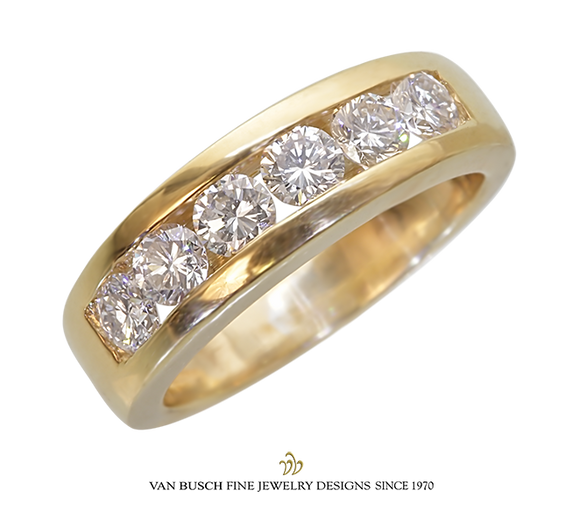 Channel-Set Round Diamond Band