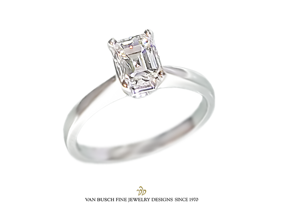 Square Emerald- Cut Diamond