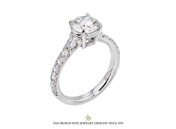 Round 1.3 ct. Diamond Engagement Ring