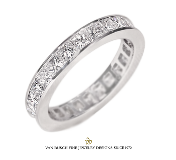 Princess-Cut Diamond Band