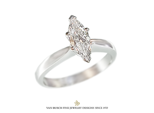 Marquise-Cut Solitaire Ring