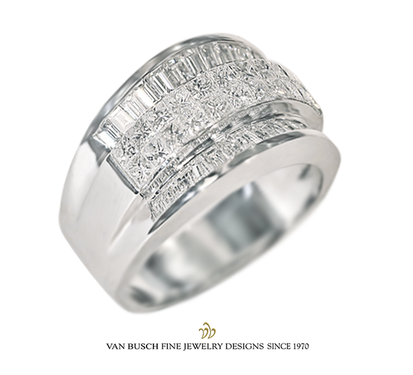Three-Tiered Diamond Ring