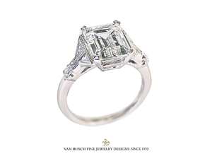 Important Emerald-Cut Diamond Ring