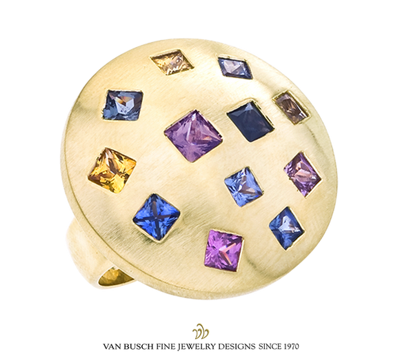Dome Ring with Sapphires
