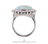 Oval Opal and Diamond Ring