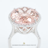 Oval Morganite and Round Diamonds Ring