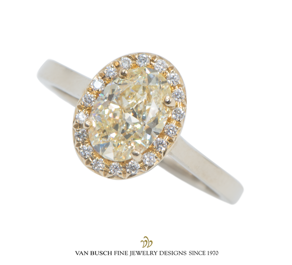 Light Fancy Yellow Diamond Ring