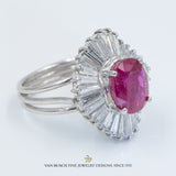 Natural Burmese Ruby Ballerina Ring