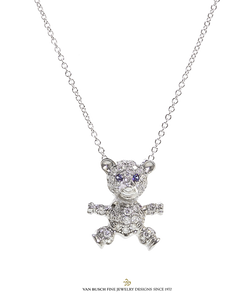 Diamond Teddy Bear Pendant