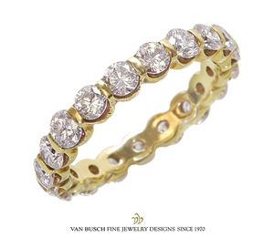 Bar-Set Round Diamond Eternity Band
