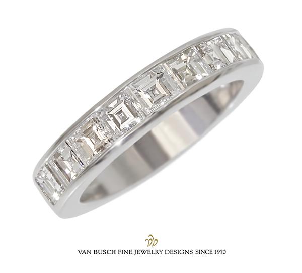 Square-Cut Diamond Band