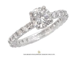 Round Brilliant-Cut Diamond Ring