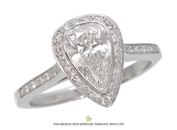 Pear-Shaped Diamond Engagement Ring