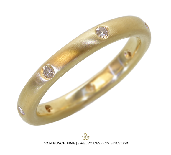 Narrow Diamond Band