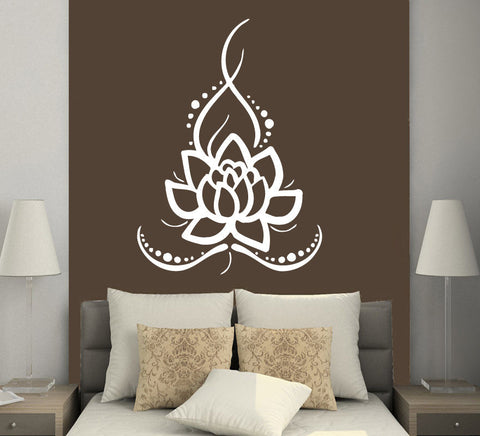 Sticker Lotus Blanc
