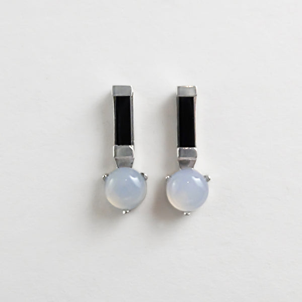 Ray Studs in Black Jade