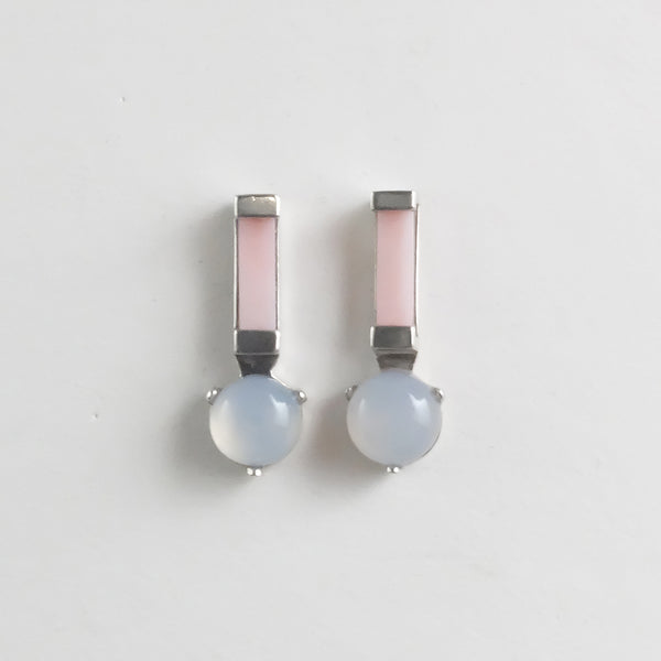 Ray Studs in Pink Opal