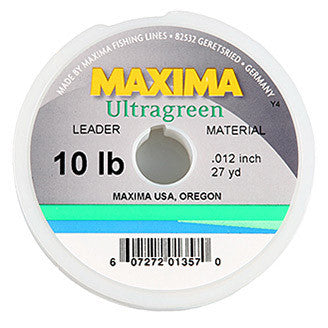 Maxima Ultragreen Leader Spools - Fly and Field Outfitters - Online Flyfishing Shop