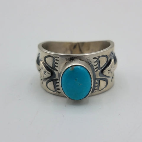 Silver Ring with Turquoise Stone | From Albuquerque