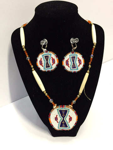 *Beaded Necklace and Earrings - Set | Norma Robertson