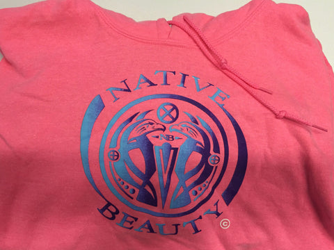 """Native Beauty"" Pink Hoodie Sweatshirt"