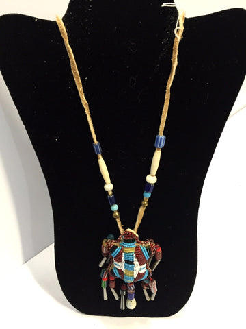 Beaded Turtle Necklace | Louise Zuffante