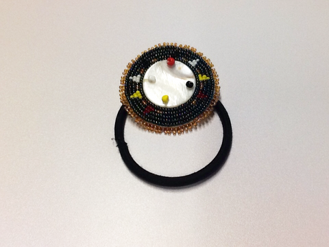 Beaded Hair Tie with Shell