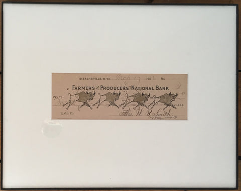 """Buffalo Run"" - Framed Ledger Art 