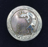 Sterling Silver Kokopelli Button
