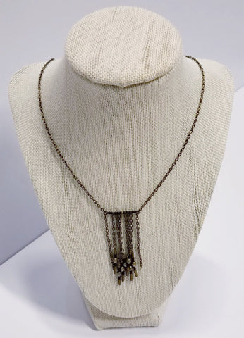 Brass and Czech Glass Festival Necklace | Beautifully Broke